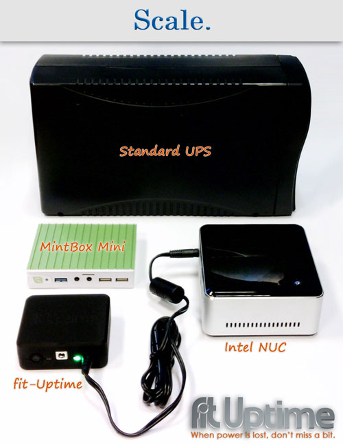 fit-Uptime with a UPS and mini-PCs